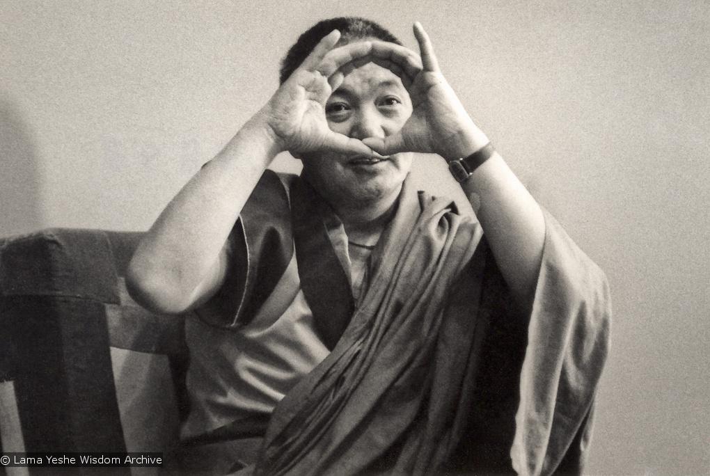 Lama teaching at UCSC, 1978