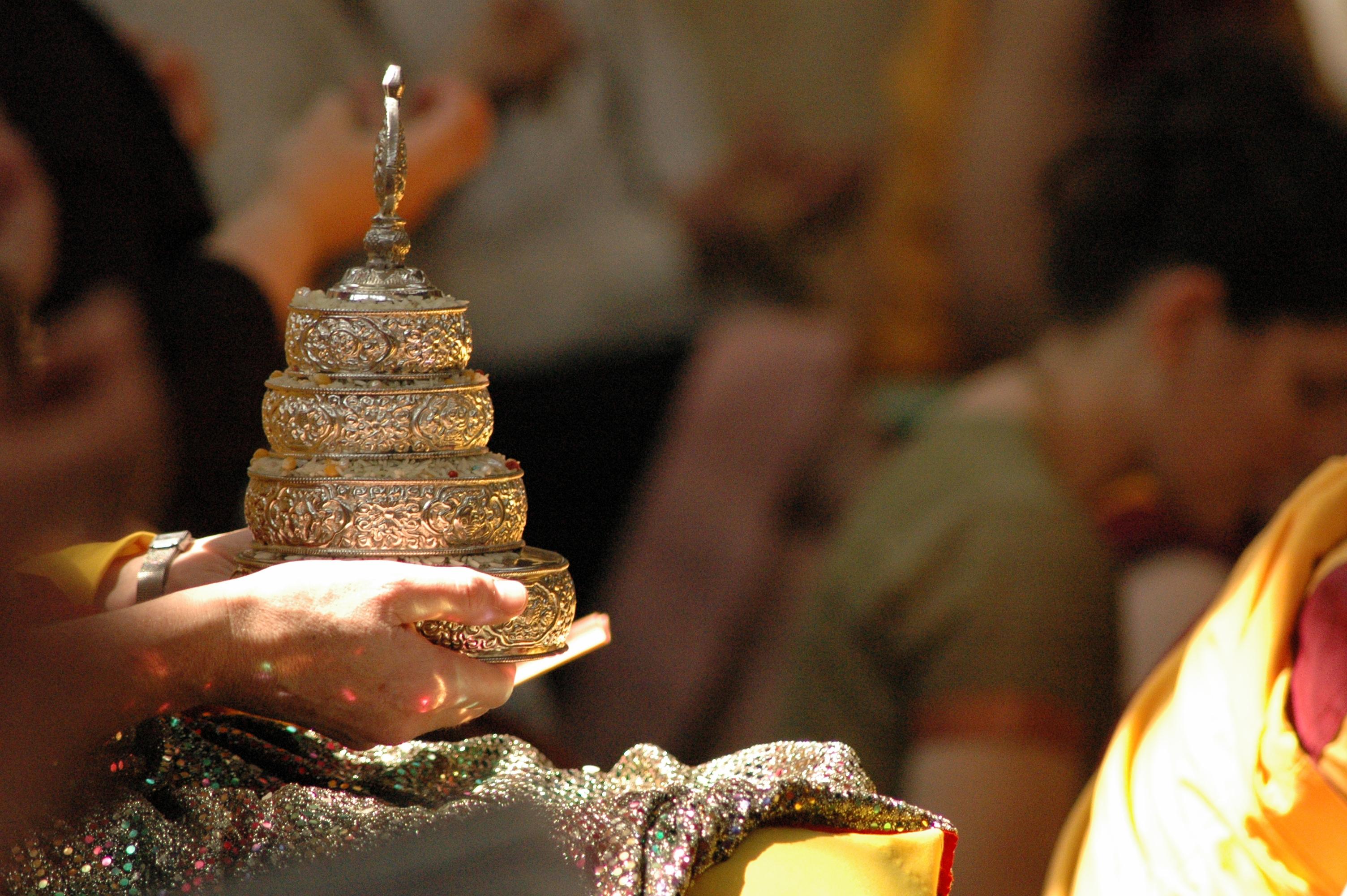 Oferenda de Mandala.