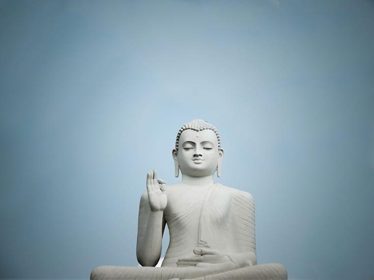 A decisão de se tornar budista